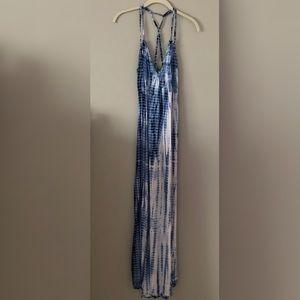 Tie-Dye Strappy Maxi Dress